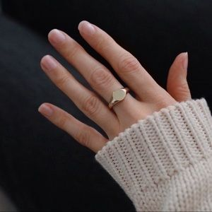 Signet Midi Ring | 14k Gold Plated